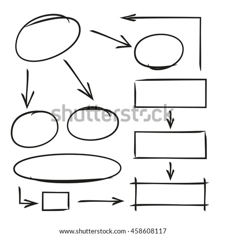 Hand drawn diagram template arrows stock vector royalty free hand drawn diagram template arrows ccuart Images