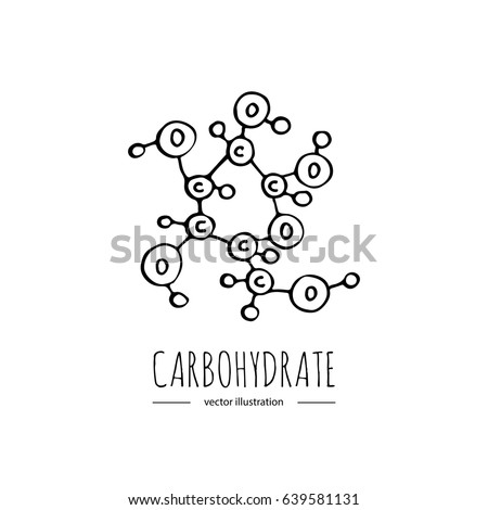 Hand drawn doodle carbohydrate chemical formula stock vector hand drawn doodle carbohydrate chemical formula icon vector illustration carbs dieting symbol cartoon sketch weight loss publicscrutiny Gallery