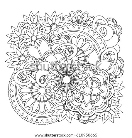 Tangle Boho Flower Stock Images Royalty Free Images Amp Vectors