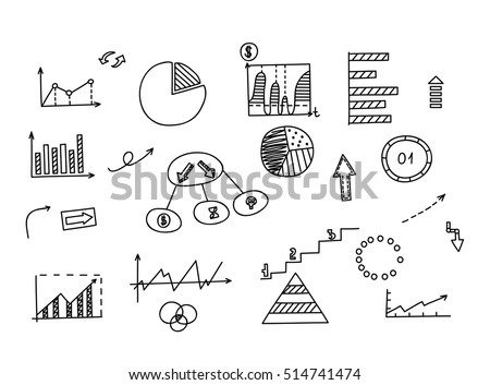 Hand drawn doodle element chart graph stock photo photo vector hand drawn doodle element chart graph diagram concept business and finance analytics ccuart Choice Image