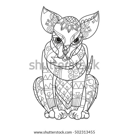 Chihuahua outline stock photos royalty free images for Thin line tattoo artists near me
