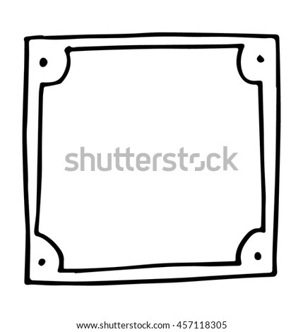hand drawn doodle paper sheets for messages on black background - stock vector