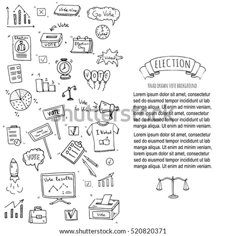 Hand Drawn Doodle Vote Icons Set Stock Vector 520820371 Shutterstock