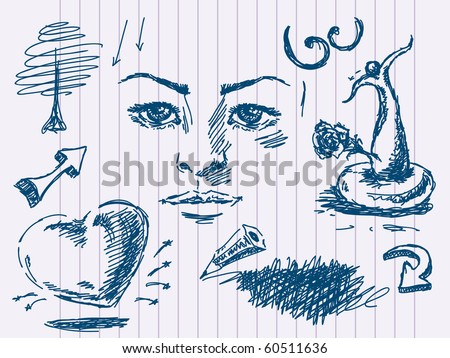 Hand drawn doodles. Visit my portfolio for big collection of doodles