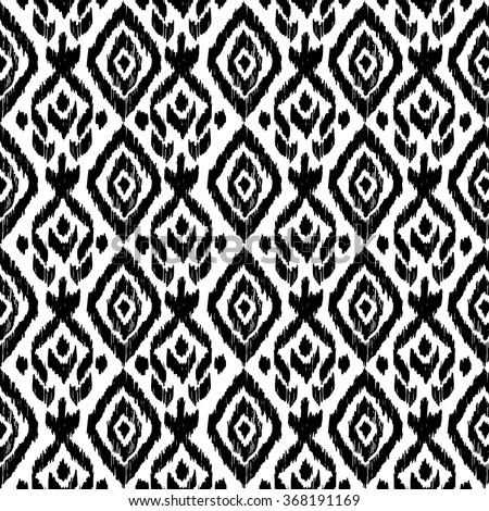 Hand drawn ethnic seamless pattern. Wrapping print. Wallpaper decor Tribal, mexican, folk background. Ethnic motif for wrapping, wallpaper, fabric, textile, craft, embroidery - stock vector