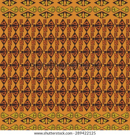 Hand drawn ethnic tribal pattern. Vector seamless texture