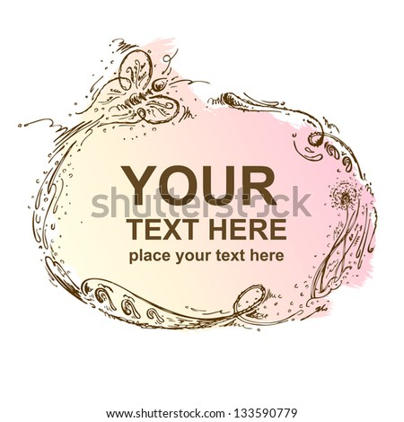 Hand-drawn frame - stock vector