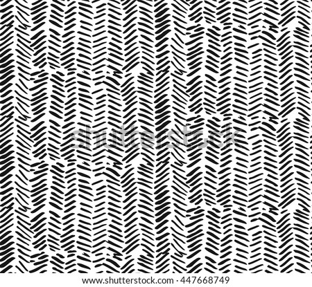 Hand drawn graphic brush strokes textured zig zag pattern.Seamless vector abstract painted pattern.Texture for web, print, home decor, textile, wrapping paper, wallpaper, invitation card background - stock vector