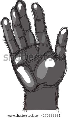 hand-drawn graphic wrist. Vector illustration - stock vector