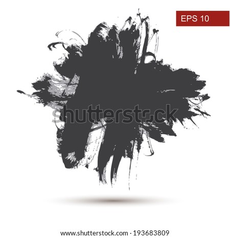 Hand Drawn Grunge background. Vector Illustration - stock vector