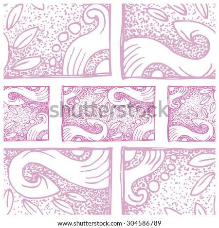 hand drawn grunge ornamental outline pattern - stock vector