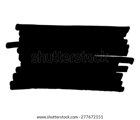 Hand drawn grungy black marker background frame element - stock vector