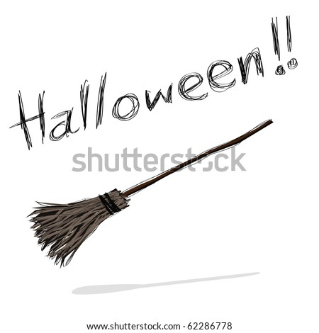 hand-drawn halloween theme message - 7 of series. - stock vector