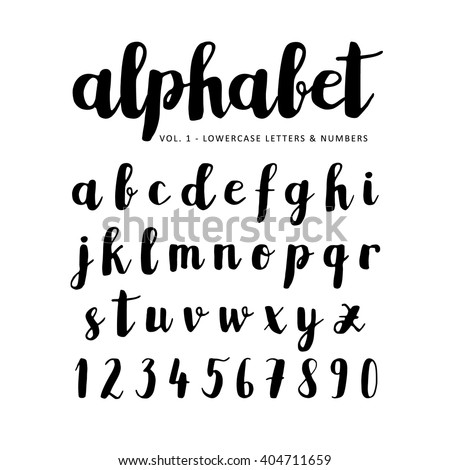 Hand drawn, handwritten vector alphabet. Brush script, font. Isolated letters written with marker, ink. Calligraphy, lettering. - stock vector