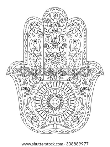 hindu hand coloring pages - photo#14