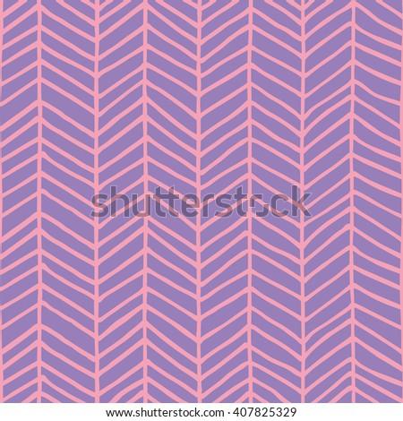 hand drawn herringbone pattern design. vector illustration - stock vector