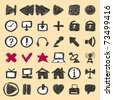 Hand drawn icons Vector. Visit my portfolio for big collection of doodles - stock vector