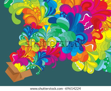 Hand drawn illustration. All elements are separated and can be used to create your own composition. - stock vector