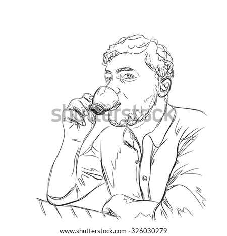 science albert einstein drawings albert einstein hand drawing outline albert stock vector 657564766