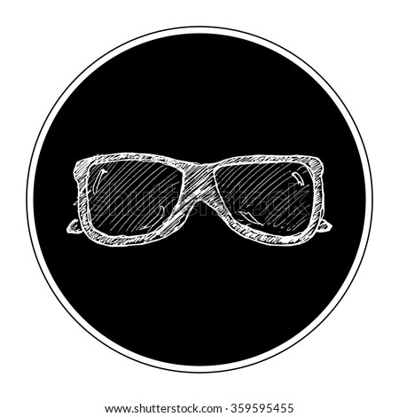 Hand drawn illustration of a pair of sunglasses