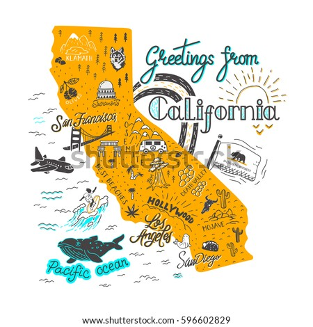 California Map Stock Images RoyaltyFree Images Vectors - Californiamap