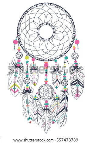 How To Draw A Simple Dream Catcher Dreamcatcher Stock Images RoyaltyFree Images Vectors 35