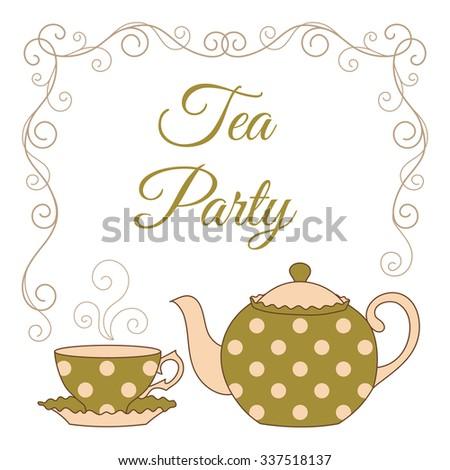 Hand Drawn Illustration Polka Dot Teapot Stock Vector (2018 ...