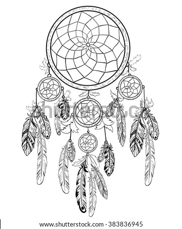 Coloring Book For Adult Dreamcatcher