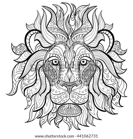 Symmetry Lion Adult Coloring Pages Free Printables