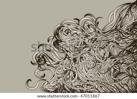 Hand Drawn jumbled messy background - stock vector