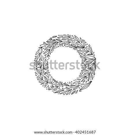 Hand Drawn Letter O Floral Decorative Typography Handmade Font English Alphabet
