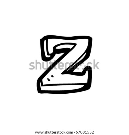 hand drawn letter z