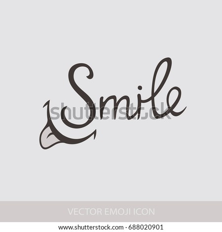 Hand Drawn Lettering Of A Phrase Smile T Shirt Lettered Calligraphy
