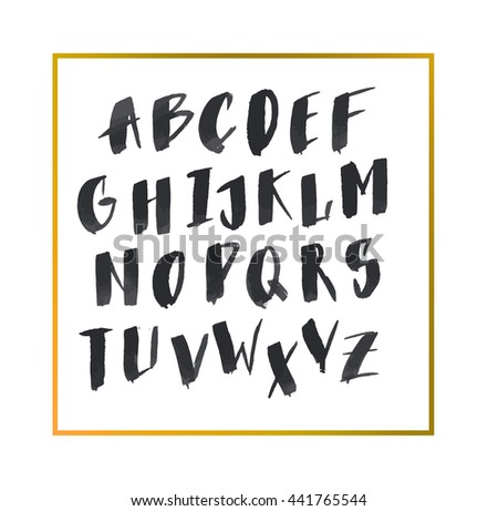 Hand Drawn Letters Alphabet ABC LettersNice Font For Your Design