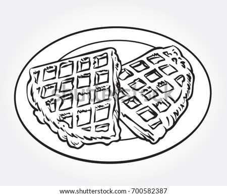 Black and white waffle pictures to pin on pinterest for Waffle coloring page