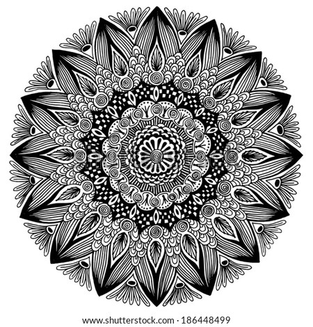hand drawn mandala - stock vector