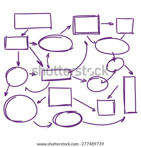hand-drawn marker infographics   business plan vector illustration - stock vector