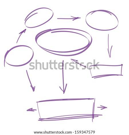 hand-drawn marker infographics vector illustration - stock vector
