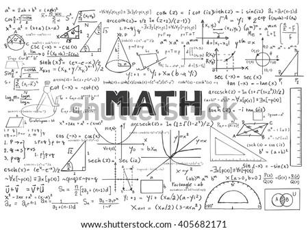 Hand drawn math formulas background stock vector 405682171 hand drawn math formulas for background ccuart Gallery