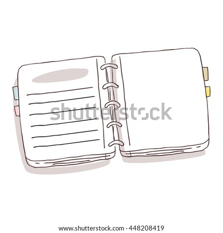 Hand Drawn Notebook - stock vector