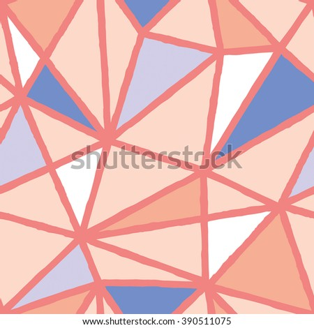 hand drawn pastel shade polygon endless background in six details only - stock vector