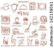 Hand drawn restaurant menu elements - stock vector