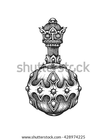 Hand drawn royal globus cruciger. Vector illustration