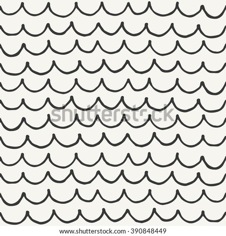 hand drawn seamless abstract pattern. vector illustration - stock vector