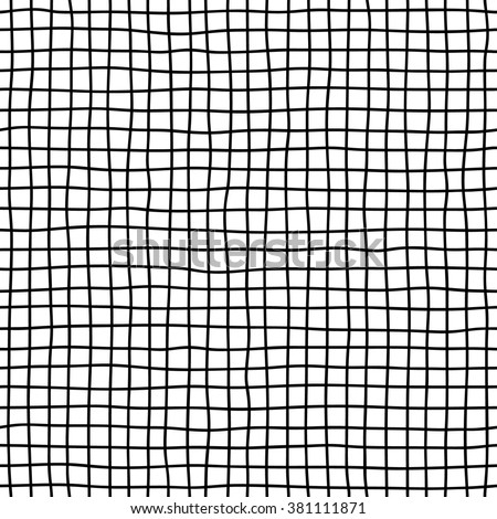 Hand drawn seamless checkered pattern.  - stock vector