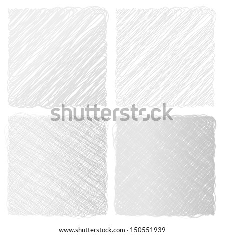 Hand drawn sketched line hand drowned school background vector set - stock vector