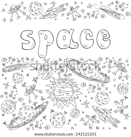 hand drawn space.