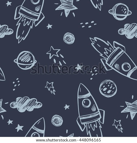 Hand drawn space background
