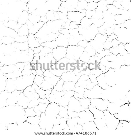 Hand drawn stylized grunge war crack black color. Flat style vector illustration. (Can be used as texture for cards, invitations, DIY projects, web sites or for any other design.)