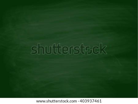Hand drawn texture of green chalk board. Vector illustration. - stock vector